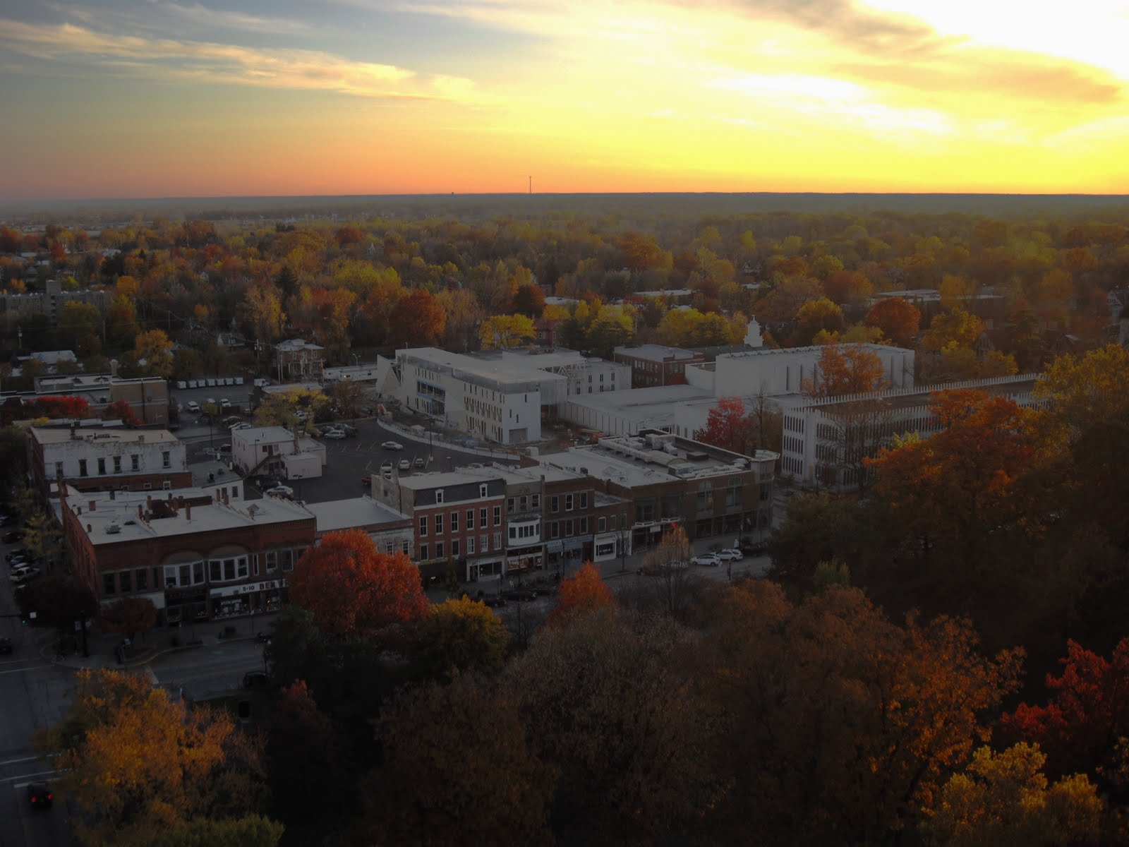 Aerial Shot of Oberlin City