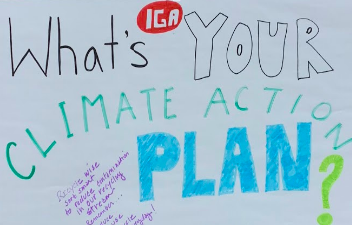 Climate action residential poster in IGA