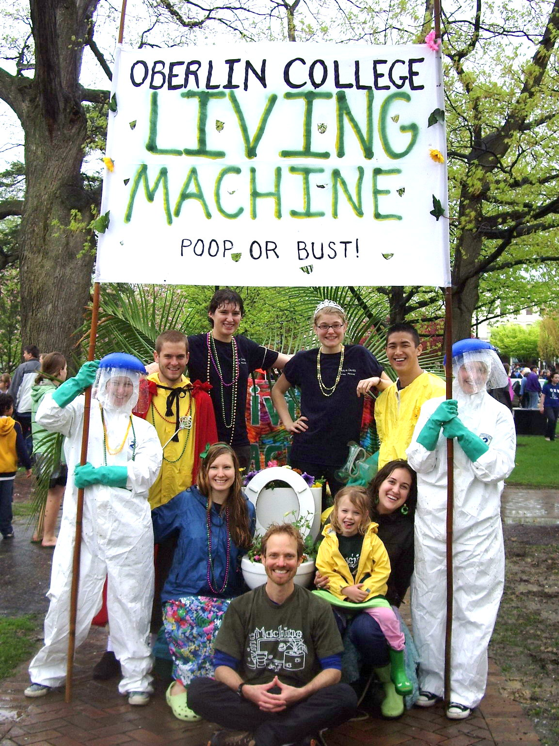 The Living Machine joins in the Big Parade festivities